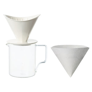28901 OCT brewer jug set 2cups white
