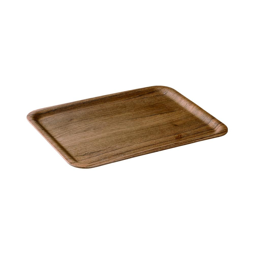 45153 - NONSLIP rctangular tray 360mm teak