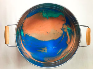 Round Serving Tray with Resin Art
