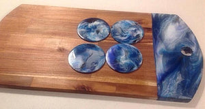 Large Grazing Board with Resin Art
