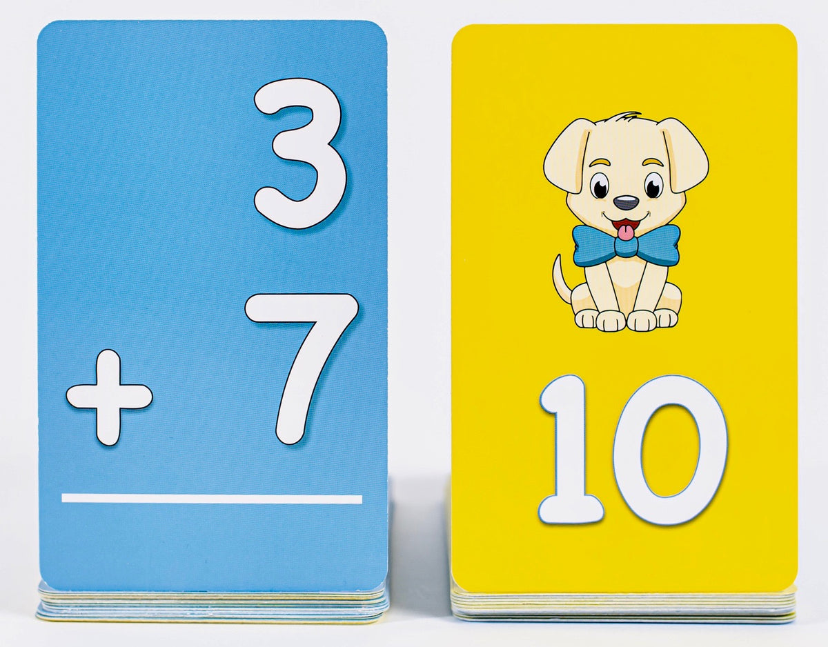Pup Quiz: Addition Flash Cards for Elementary Students