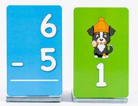Pup Quiz: Subtraction Flash Cards for Elementary Students