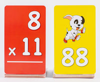 Pup Quiz: Multiplication Flash Cards for Elementary Students