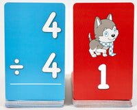 Pup Quiz: Division Flash Cards for Elementary Students