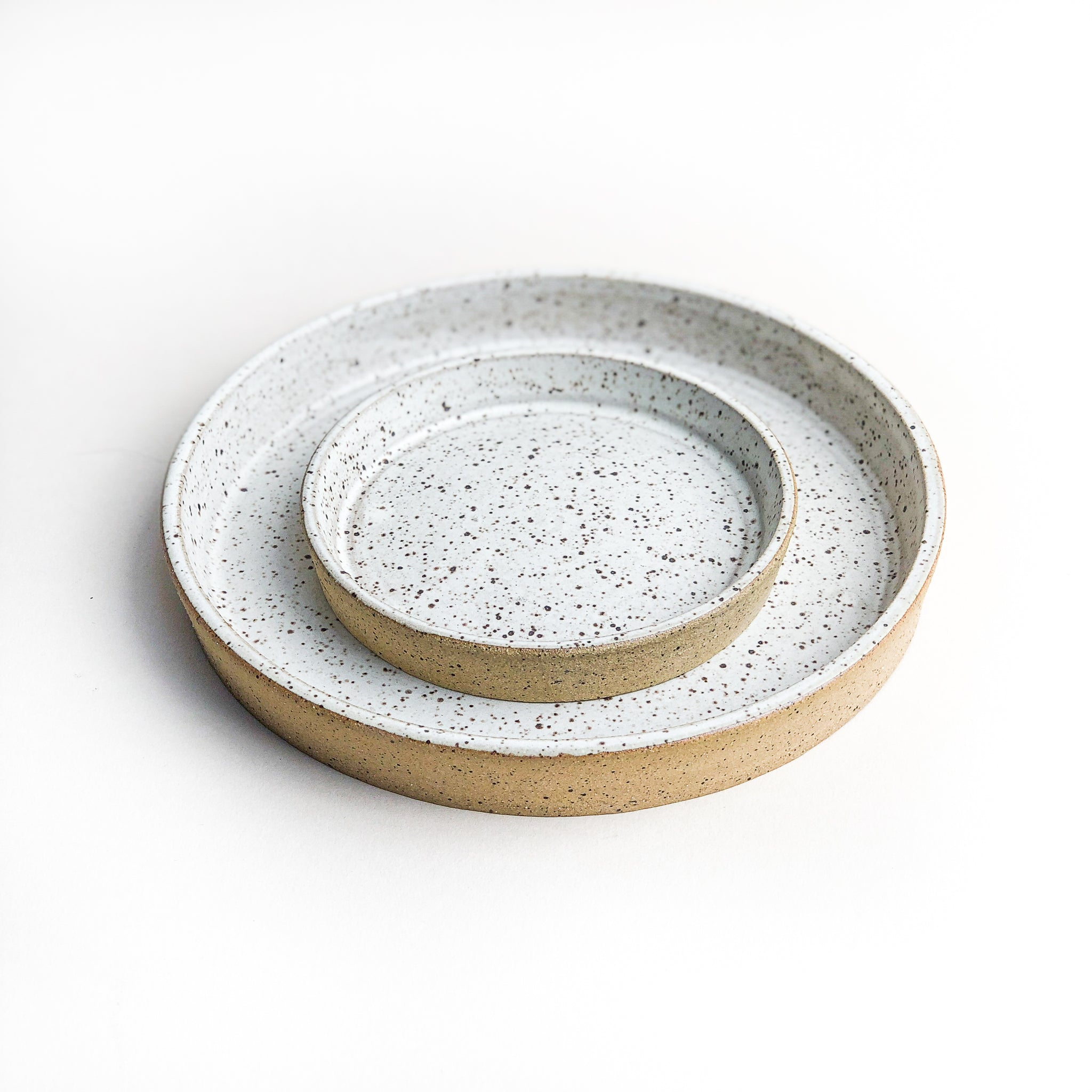Speckled White Planter Tray // Various Sizes