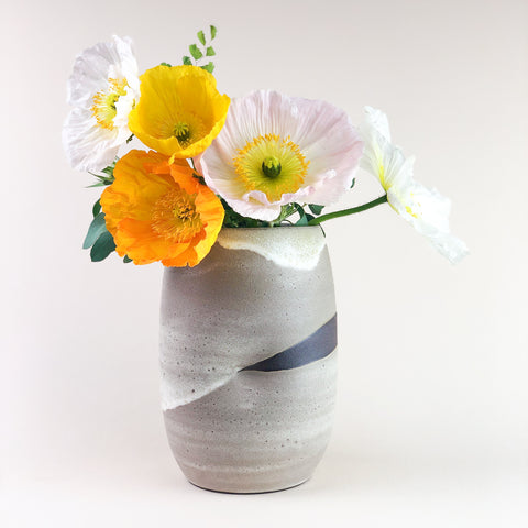 Sculptural Vase // Warm Grey