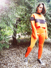 Peggy orange panel leggings
