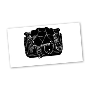 MOSCHINO BIKER JACKET CLUTCH