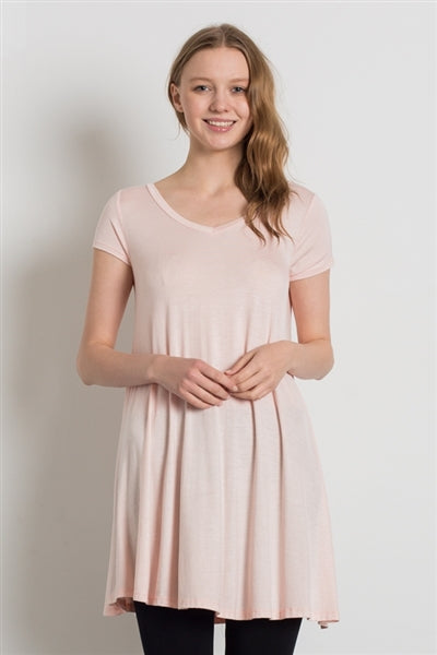 Cap Sleeve Solid Dresses Blush - Pack of 6