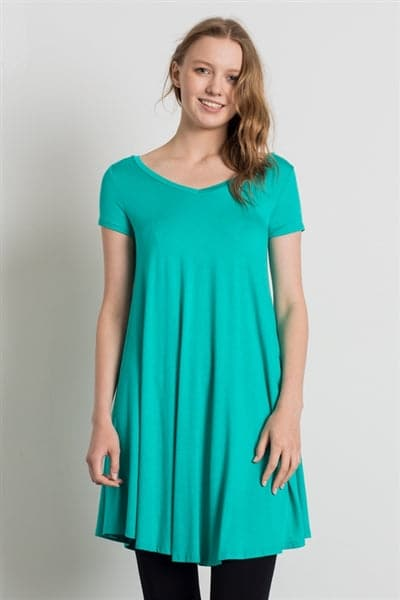 Cap Sleeve Solid Dresses Mint - Pack of 6