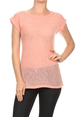 Fashion Hacci Knit Summer Top Peach - Pack of 6