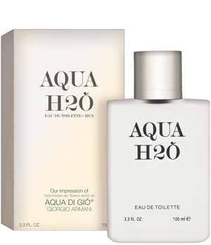 Bottle of Aqua H2O Fragrance.