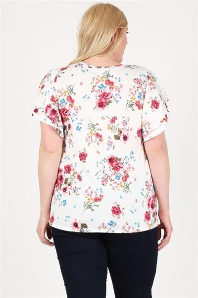 Plus Size Printed Top Ivory - Pack of 6