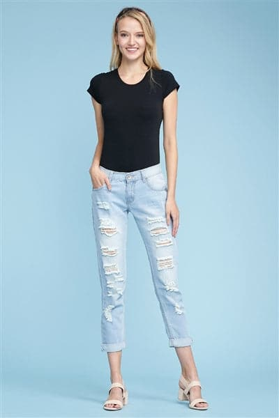American Blue -Boyfriend Distressed Jeans - Pack of 12