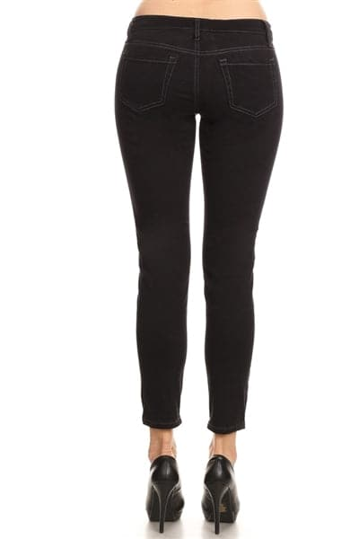 Women 5 pockets Classic Denim Jeans Black - Pack of 13