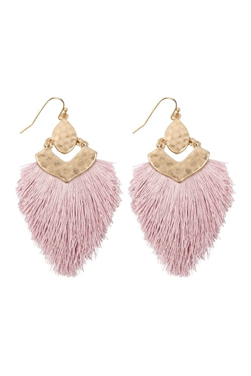 Dangle Tassel Drop Earrings Lavender - Pack of 6