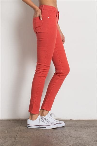 5 Pocket classic Cotton Stretch Jeans Coral  - Pack of 12