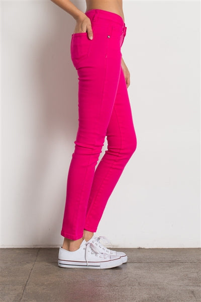 5 Pocket classic Cotton Stretch Jeans Fushia - Pack of 12