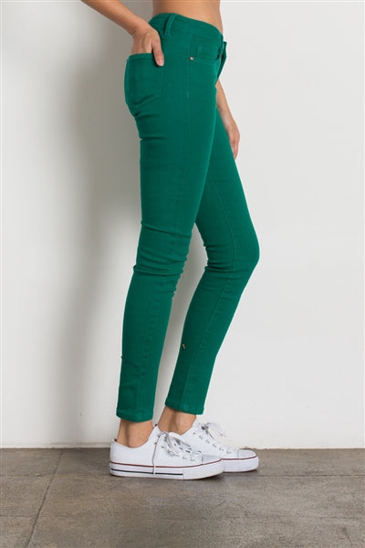 5 Pocket classic Cotton Stretch Jeans K. Green - Pack of 12