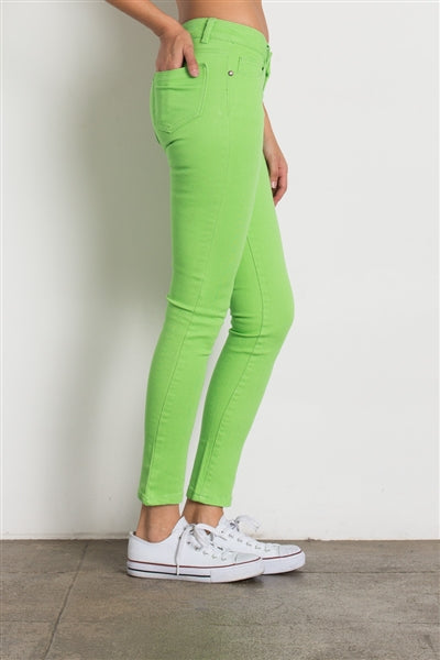 5 Pocket classic Cotton Stretch Jeans Lime - Pack of 12