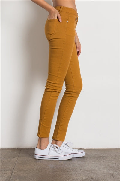 5 Pocket classic Cotton Stretch Jeans Mustard - Pack of 12