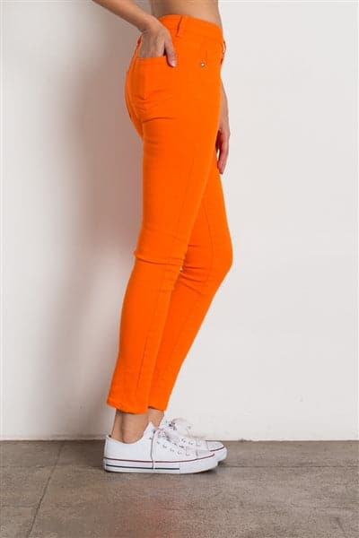 5 Pocket classic Cotton Stretch Jeans Orange - Pack of 12
