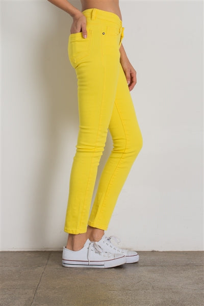 5 Pocket classic Cotton Stretch Jeans Yellow - Pack of 12