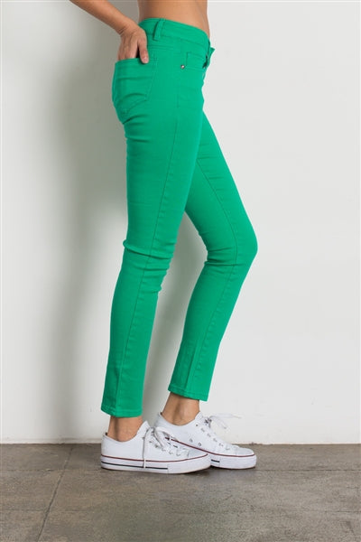 5 Pocket classic Cotton Stretch Jeans Green - Pack of 12