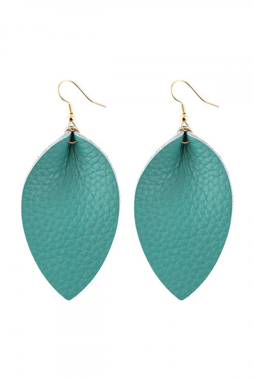 Pinched Teardrop Hook Drop Earring Turquoise - Pack of 6