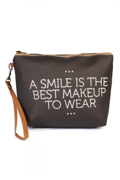 """A Smile..."" Wristlet Makeup Bag"