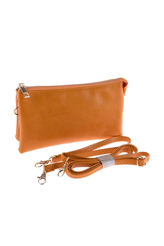 Leather Crossbody Bag With Wristlet Gold - Pack of 6