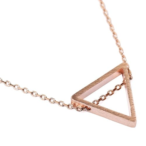 Triangular Pendant Necklace Style 2 Rose Gold - Pack of 6