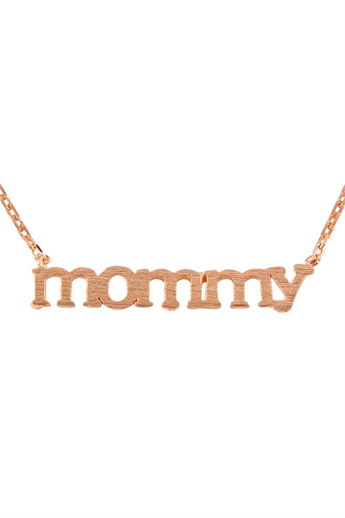 Mommy Cast Pendant Necklace Rose Gold