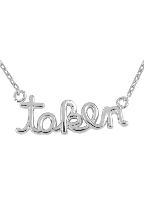 Taken Cast Pendant Necklace Silver - Pack of 6