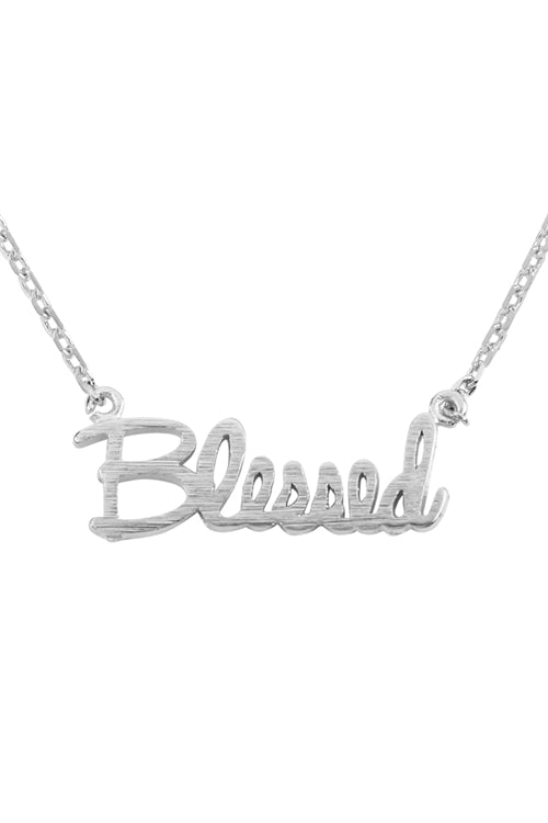 Blessed Pendant Necklace Silver