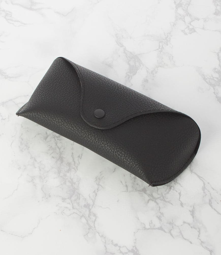 Black Faux Leather Sunglass Case - Pack of 12
