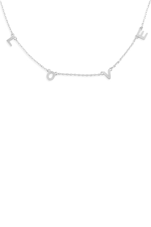 Love Chain Necklace Silver