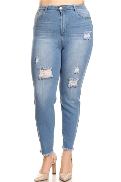 Plus Size Cropped Skinny Jeans - Pack of 6