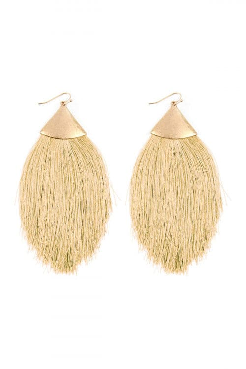 Sand Tassel Drop Earrings - Pack of 6