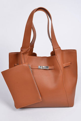 Reversible Hobo Leather Bag with Detachable Strap Leather Pouch Camel
