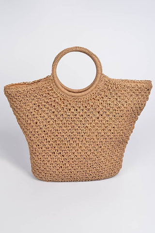 Leopard Printed Tote Bag Brown