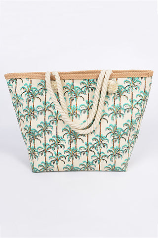Geometrical Pattern Tote Bag Blue