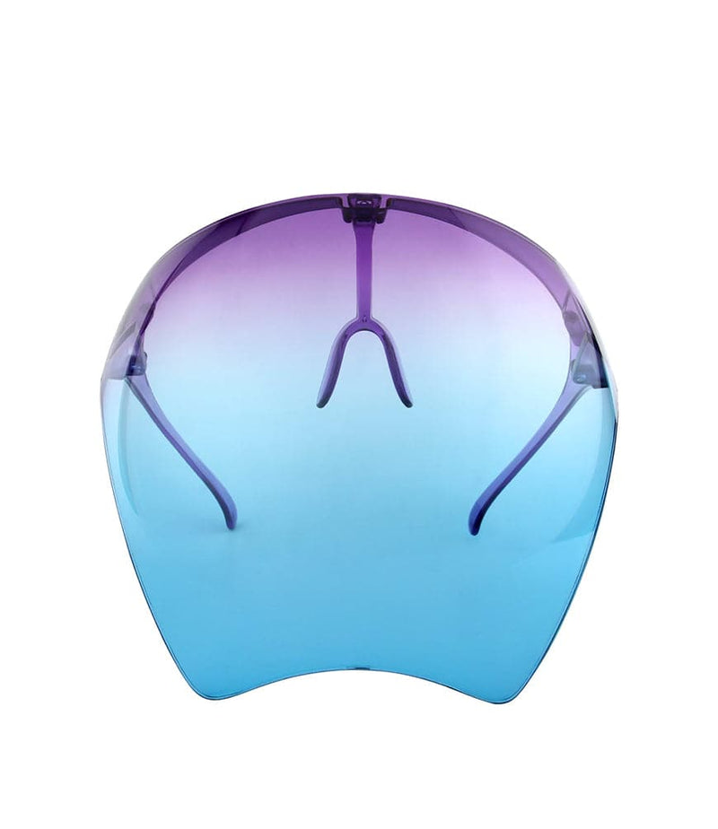 Face Shield Visor Purple to Blue - Pack of 7