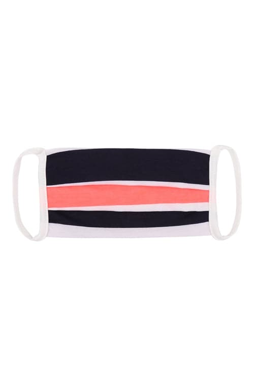 Striped Reusable Cloth Face Mask Multicolor - Pack of 12