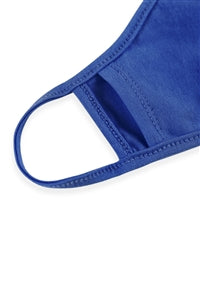 Cobalt Plain Reusable Face Mask For Adults With Filter Pocket - Pack of 12