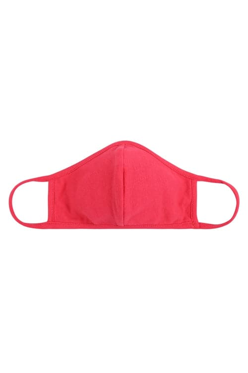 Super Coral Plain Reusable Face Mask For Adults With Filter Pocket - Pack of 12