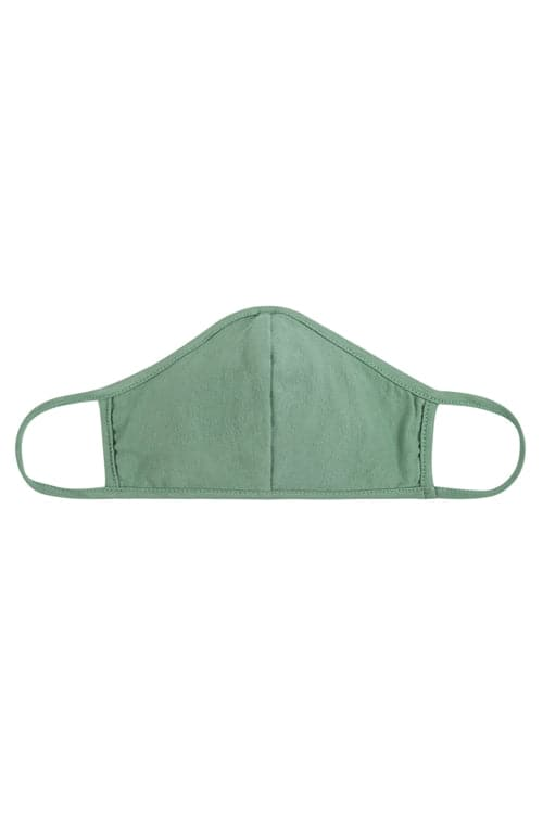 Sage Plain Reusable Face Mask For Adults With Filter Pocket - Pack of 12