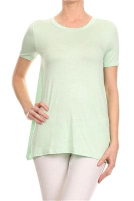 Basic Solid Loose Fit Top Mint - Pack of 6