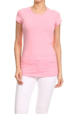 LoveSweet Basic T-Shirts Pink - Pack of 12