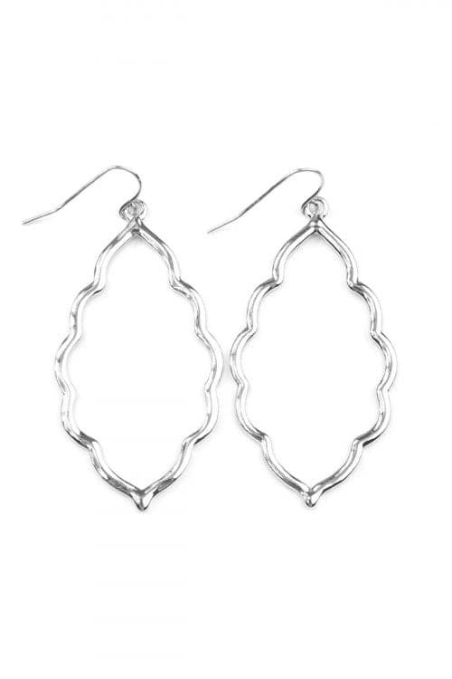 Silver Moroccan Cutout Earrings - Pack of 6